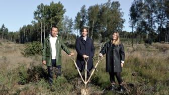 Wojciech Wondell (projektchef på Titania),  Christoffer Baudou (arkitekt på Blooc), Iris Vesterberg (affärsutvecklare på Blooc)