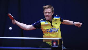 Landslagsspelaren Elias Ranefur är en av åtta spelare som gör upp i den första deltävlingen av Pro Series. Foto: ITTF