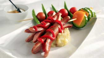 Det er helt ok med pølser til middag så lenge man serverer grønnsaker ved siden av.