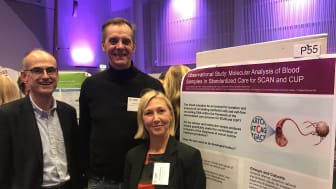 In the picture from left: Roland Söderholm, Physician at Diagnostic Center at Södertälje Hospital, Charlotta Sävblom, project leader at RCC Stockholm Gotland and Christer Ericsson, CSO at iCellate.