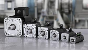 Bosch Rexroth nya produktserie är omfattande. Över 50 motorer i olika storlekar – med vridmoment från 0.8 Nm på upp till 360 Nm med ett varvtal upp till 9 000 varv per minut.