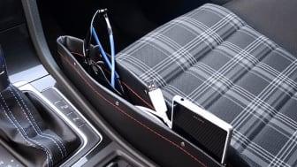 Smart förvaringsficka till bilen som fångar upp lösa föremål