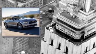 Ford Mustang på toppen af Empire State Building