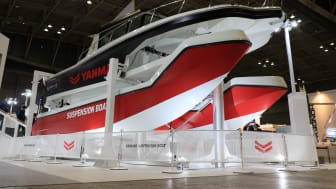 The suspension boat at the Japan International Boat Show 2018
