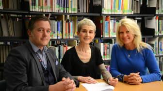 L-R: Dr Matt Kiernan, Professor Dianne Ford and Jaye Connolly-LaBelle.