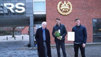 Johan Rogestedt och Johan Högstrand har utvecklat en icke-invasiv metod för att mäta mjölksyra i blodet. För det belönas de nu med Bert-Inge Hogsveds pris för bästa entreprenörskap.