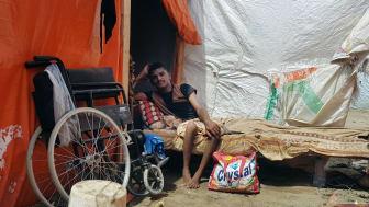 18-årige Migdad Ali Abdullah, som befinner sig i flyktinglägret Mishqafa i Lahj, 11 juni 2019.   ©Amnesty International