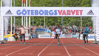 During Göteborgsvarvet 2016, Richard Mengich managed to follow the blue line along the streets of Gothenburg and reach the finish line at Slottsskogsvallen in record time, 00:59:35.