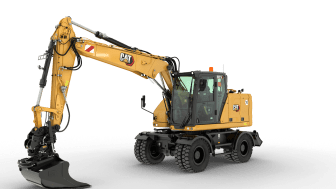 Cat M314 hjulgrävmaskin - frilagd med skugga