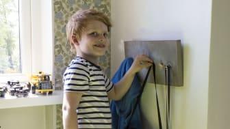 Barnvänlig hängare – gör det själv