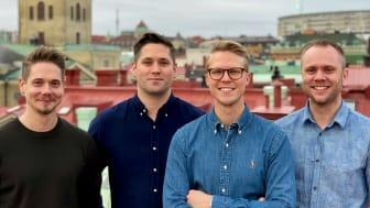 Co-founders Parakey. Från vänster: Marcus Andersson, Erik Barrefors, Jonas Arvidsson, Eric Franklin ||  Foto: Parakey