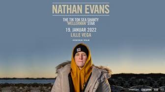 """TikTok """"Sea Shanty"""" stjernen Nathan Evans kommer til Danmark til januar 2022"""