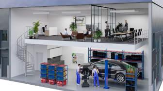 Ny hyresgäst flyttar in i Titanias nya verksamhetslokaler i Eriksbergs industriområde, Botkyrka kommun.