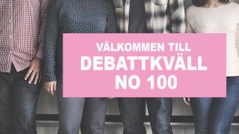 Påminnelse om inbjudan till debattkväll no 100 (jubileum!)