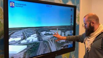 3D-tekniken ska göra det lättare att uppleva och påverka samhällsutvecklingen i Kristianstads kommun. Foto: Kristianstads kommun