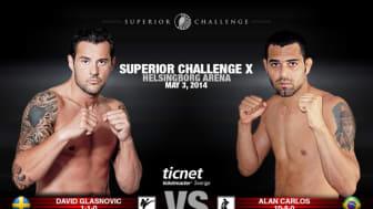 Glasnovic möter Carlos i Superior Challenge X Helsingborg