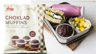 Endelig er Fria sine glutenfrie Sjokolademuffins tilbake på dagligvaremarkedet