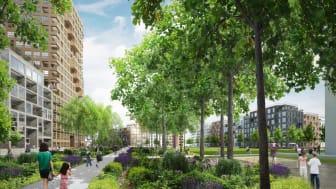 Grafik des künftigen Werksviertels in München