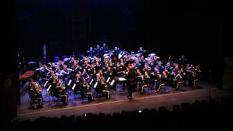 HMK Gardes Musikkorps spiller festkonserten i forbindelse med samlingen. Foto: Mads Myr Munthe-Kaas/NMF