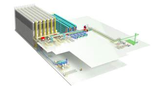 Jungheinrich skapar ett 30 meter högt helautomatiserat reservdelslager åt Liebherr