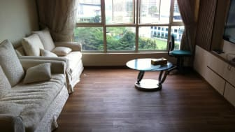 High end resilient flooring in modern homes