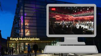 KMH är en av Sveriges största konsertarrangörer sett till antalet konserter. Nu öppnas en ny möjlighet då ett antal konserter blir tillgängliga för fler genom direktsända spelningar.
