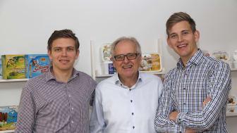 Alexander, Anders och Felix Müntzing.