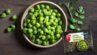 Findus lanserar helt unik produkt inom grönsakskategorin: Gröna Kikärter