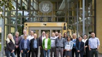 Projektdeltagare på plats i Skövde