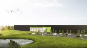 Aarstiderne Arkitekter står bag designet af fabrikken, hvor der er lagt vægt på, at bygningerne integreres i de omkringliggende omgivelser og fremstår med et rent udtryk.