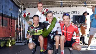 De tre bästa herrarrna i Cykelvasan 2015