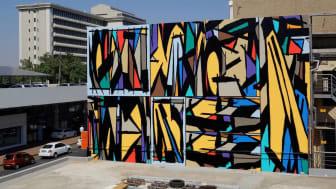Sobekcis-duon seinämaalaus Johannesburgissa