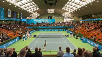 Renoverat dagsljusinsläpp på Kungliga Tennishallen i Stockholm