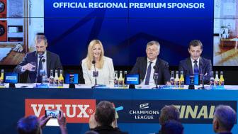 David Szlezak, EHF Marketing, Alenka Potočnik Anžič, Gorenje, Michael Wiederer, EHF President and Predrag Boskovic, EHF Vice President