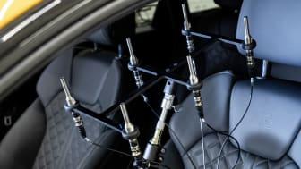 Mikrofoner til måling af lyd i bilen