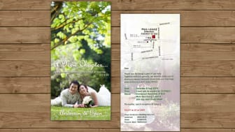 Wedding invitation DL size