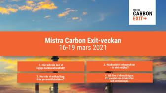 Mistra Carbon Exit-veckan: fyra frukostwebbinarier om klimatomställningen