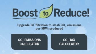 Camfil introduces the easiest and most cost-efficient way to reduce gas turbine CO₂ emissions