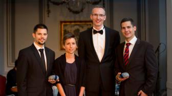 (from left to right) Ádám Butykai, Ágnes Orbán, György Nagy, and Dr. Tamás Haidegger. Photo credit: Csaba Molnár