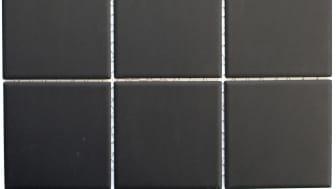 Mosaik Eventyr Lysene Sort 9,6x9,6, 648 kr. M2.