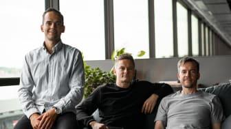 Bluebird Medias grundare och partners fr.v.: Patrik Segersven, Head of SEM & Analytics, Magnus Dahlquist, VD, och Henry Mäkelä, Head of Social & Programmatic