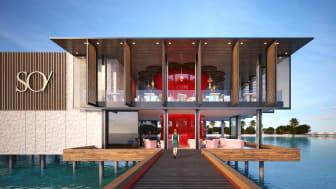Stylischer Ankunftsbereich des luxuriösen Hauses  © ECO-ID