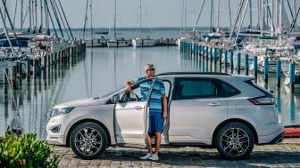 Litkey Farkas, világklasszis Vitorlázó a Ford Edge márkanagykövete