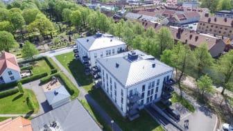 Afzeliiskolan 6, i Alingsås med 24 lägenheter är en av fem nyförvärvade hyresfastigheter där bosparande där HSB-medlemmar har förtur.