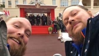 Brødrene Eskild og Jarle Granheim fra Eidsvoll i nærkontakt med fyrst Albert av Monaco!
