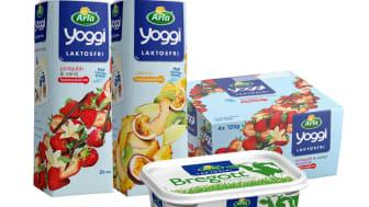 Frukostfavoriterna Yoggi och Bregott – nu även laktosfria