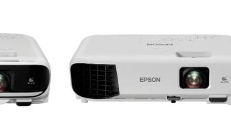 (Left to right) Epson Business Projectors: EB-FH52, EB-E10, EB-W06