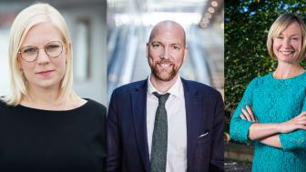 Fr v: Karin Ernlund, Gustav Hemming, Michaela Haga
