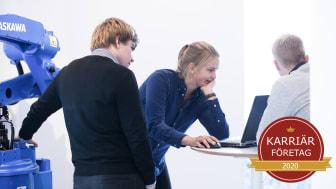 """YASKAWA Nordic har utsetts till ett """"Karriärföretag 2020""""."""