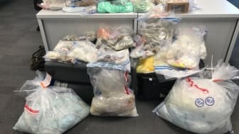 Police have seized a large amount of illegal drugs believed to be worth more than £1 million